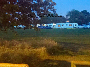 Travellers camp has now moved from Lifeboat Road to Duke Street Park in Formby