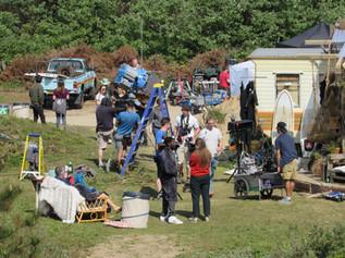 Sky drama Curfew starring Sean Bean were filming on Formby beach last week