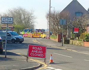 Road Closed in Formby causing significant delays