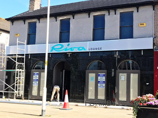 Riva Lounge has it's new sign - Not long now!