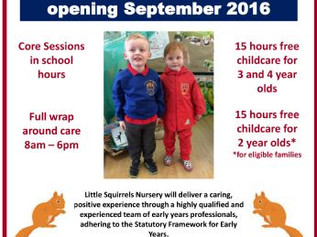 Brand new nursery opens at Redgate School tomorrow - Little Squirrels Nursery