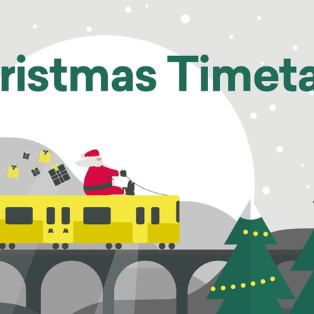 Merseyrail Christmas Timetables have now been released