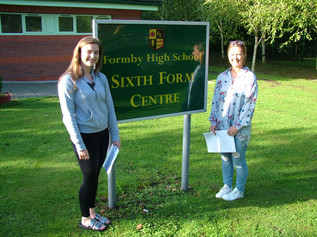 Formby High School celebrate excellent 'A' Level Results