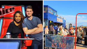 Kieron Smith From The Voice will be singing today at The Bus Yard on Crosby Marina