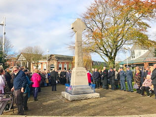 Remembrance service in Formby and district today