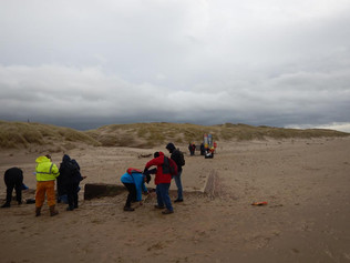 An archaeological training day at Formby beach was a great success
