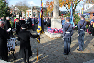 The community of Formby fell silent today for Armistice Day