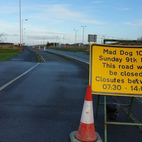 Mad Dog 10k road closures if the race goes ahead on Sunday 9th February