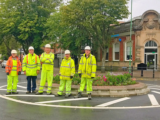 The new Chapel Lane roundabout is complete ahead of schedule thanks to the Dowhigh team