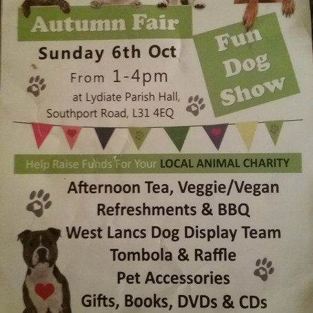 Autumn Fair and Fun Dog Show in Lydiate