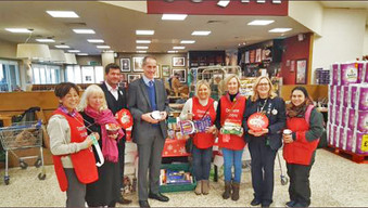 A big THANKYOU from Tesco Formby for the huge amount of food donated in foodbank appeal