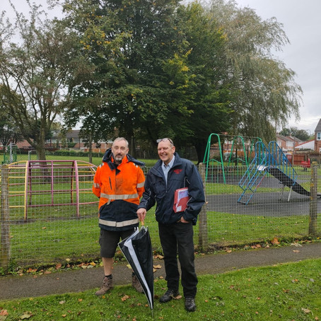 Glenn Park play area in Maghull will be closed from Monday 5th October for 6 weeks for refurbishment