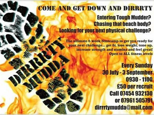 Get Down and Dirrrty at Formby Fitness training for Tough Mudder