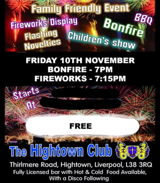 Hightown Cricket Club honour their cancelled bonfire event with a FREE event this Friday night