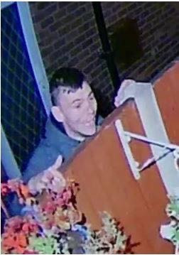 Police issue image of a man they think may have information about a burglary in Aintree