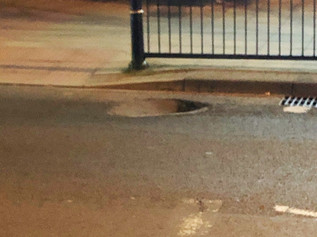 A sinkhole has appeared in Formby on Chapel Lane