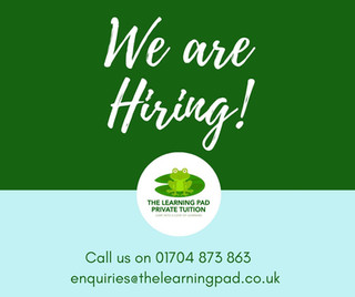Secondary English Teacher and Primary Teacher wanted for The Learning Pad in Formby