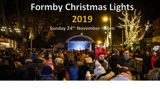 Formby Christmas Lights Switch On will be on Sunday 24th November 2019 at 5pm