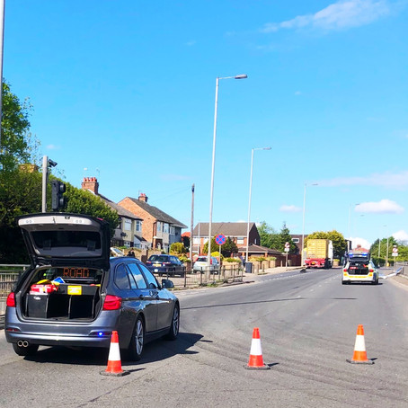 The junction of Church Road and Hawthorne Road in Litherland remains closed by police after RTC