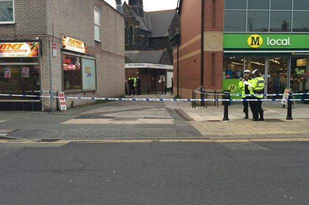 Stabbing in Formby Village 22nd May 2015.jpg