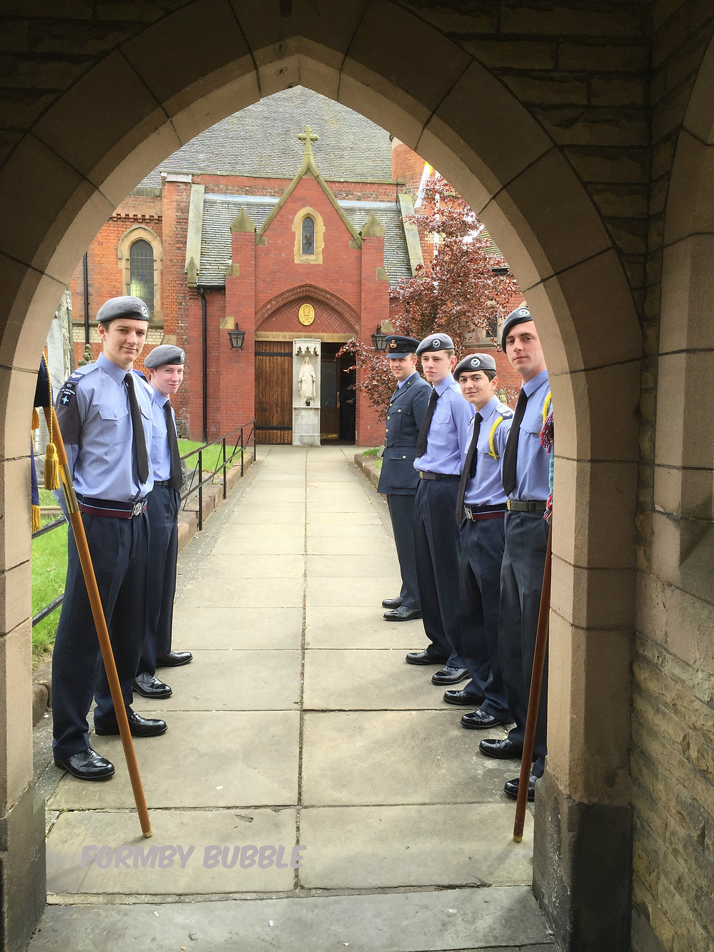 RAF Cadets at VE Day Service at OLOC....jpg