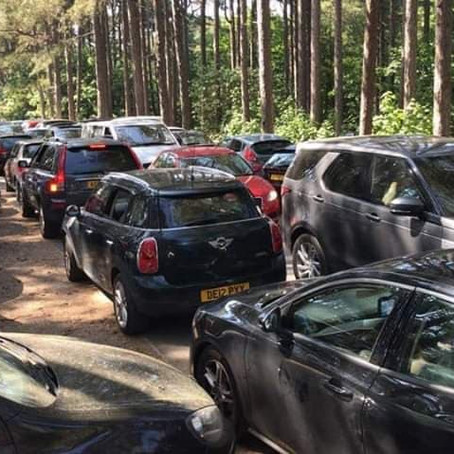 National Trust Formby is completely FULL, queuing time is two hours so please don't go