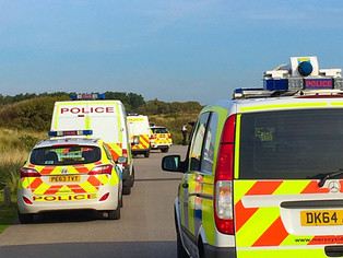 Controlled explosion on Formby beach today which could be felt on Larkhill Lane