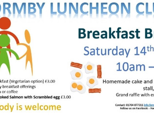 Breakfast Break at Formby Luncheon Club on 14th April