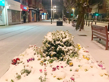 Snow arrives in Formby with the blast of cold Siberian air dubbed the 'Beast from the East'