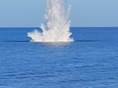 Watch the video and see the photos of the controlled explosion on Formby beach yesterday