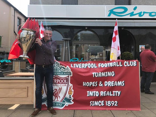 Liverpool fans left on an epic journey today from Formby to Kiev