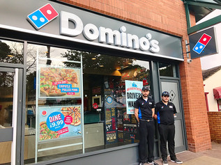 Domino's in Formby has had a makeover and is looking great!