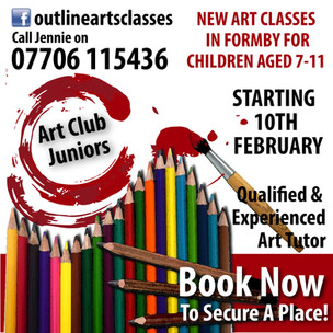 New Art classes in Formby for children aged 7 to 11 years