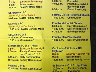 Celebrate Easter with a church service this morning