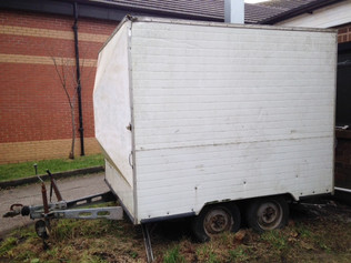 Used Twin Wheel Box Trailer for sale