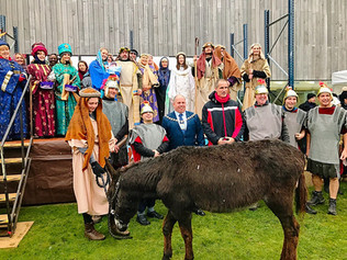 Magical scenes as snowflakes fell on the Formby Nativity