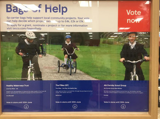 Please vote for a new minibus for 4th Formby Scouts in Tesco's Formby