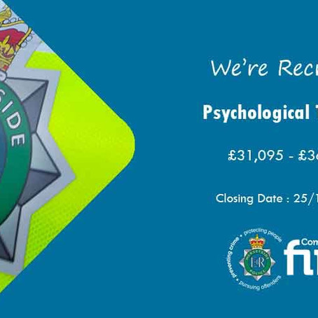 Merseyside Police are recruiting an OHU / Psychological Therapist / Grade F / Headquarters