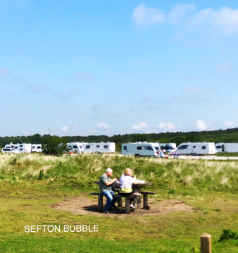 Travellers camp has been set up on National Trust land on Lifeboat Road in Formby