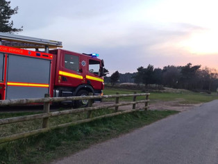 On the hottest day of the year so far, fire crews attended numerous fires lit by arsonists in Formby