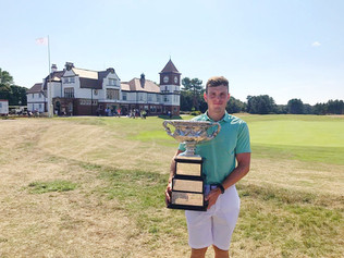 Thomas Thurloway powers to victory in the English Amateur at Formby Golf Club
