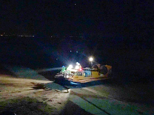 Hovercraft called to rescue 3 people on Formby Bank