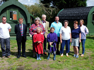 Dame Lorna Muirhead visits the  on-going Altcar PODS project, now known as the Jewel in the Crown