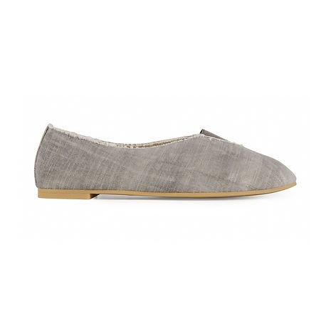 Rhythmic Vegan Ballet Flats | Grey Stone