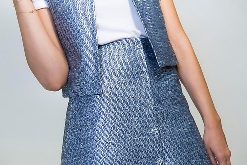 made in france, jupe tweed, ready-to-wear, luxury, via gioia, mode parisienne, prêt-à-porter, skirt, tweed skirt