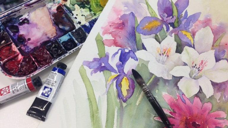 Akvarell material: startpakett