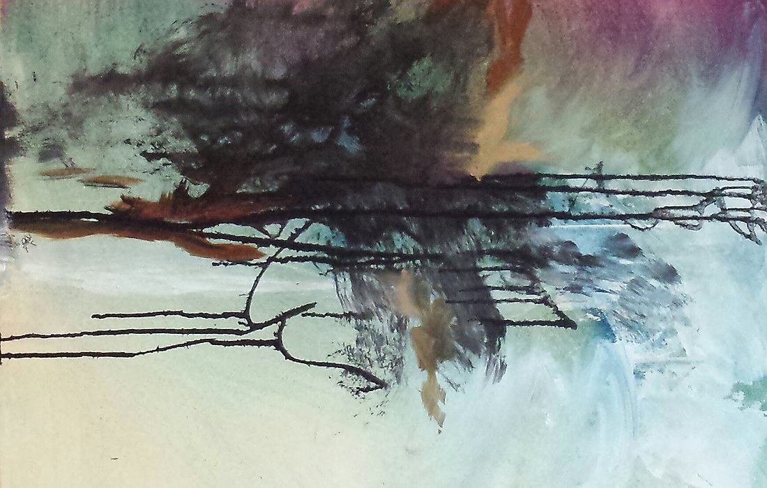 A custom abstract painting will be created to suit your personal taste and home's deor.
