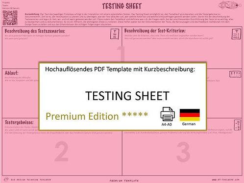 Testing Sheet (German)