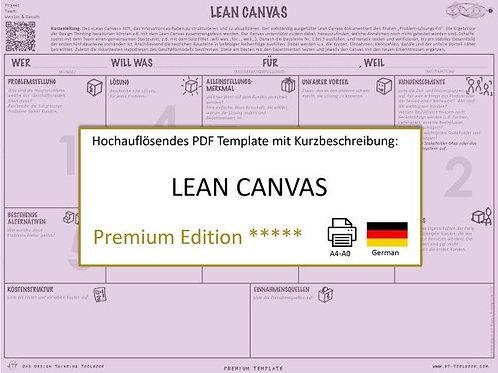 Lean Canvas (German)
