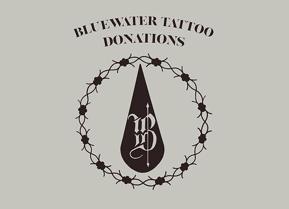 Bluewater Tattoo Donations